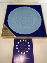 """Fenton Authentic Handmade 8"""" Blue Plate """"Give Me Liberty"""" #1 In Series - $10.00"""