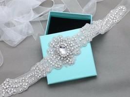 Vintage Style Rhinestone Crystal Bridal Satin Ribbon Sash Dress Wedding ... - $24.99
