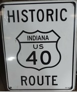 """Historic Indiana US Route 40 8""""x10"""" Metal Street Sign  - $12.86"""
