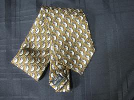 Ermenegildo Zegna Mens Mans Tie 100% Silk Bronze Copper Golden Brown - $13.45