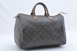 Louis Vuitton Monogram Speedy 35 Hand Bag M41524 Lv Auth sa1913 - $240.00