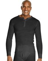 Hanes X-Temp Men's Organic Cotton Thermal Henley Shirt - Tagless- 4 COLORS-S-2XL - $22.99