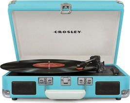 Crosley CR8005D-TU Deluxe Cruiser Bluetooth Turntable Record Player Turq... - £65.12 GBP
