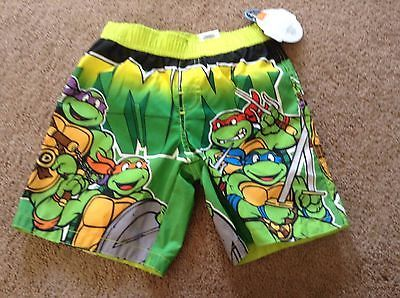 9a57a5c6a80ff Nickelodeon Teenage Mutant Ninja Turtles Toddler Boy's Swim Trunks Sz 4t NWT