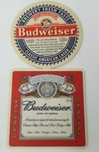Vintage Set of 2 Anheuser Busch Employee Budweiser Cardboard Coasters - $12.30