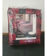 Queen Buffalo Plaid Red Primitive 3pc Quilt Patchwork Bear Checked Virah Bella - $63.58