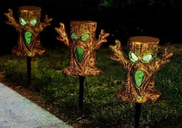 Halloween Spooky Trees Light Up Lawn Stakes Pathway Markers - $18.94 CAD