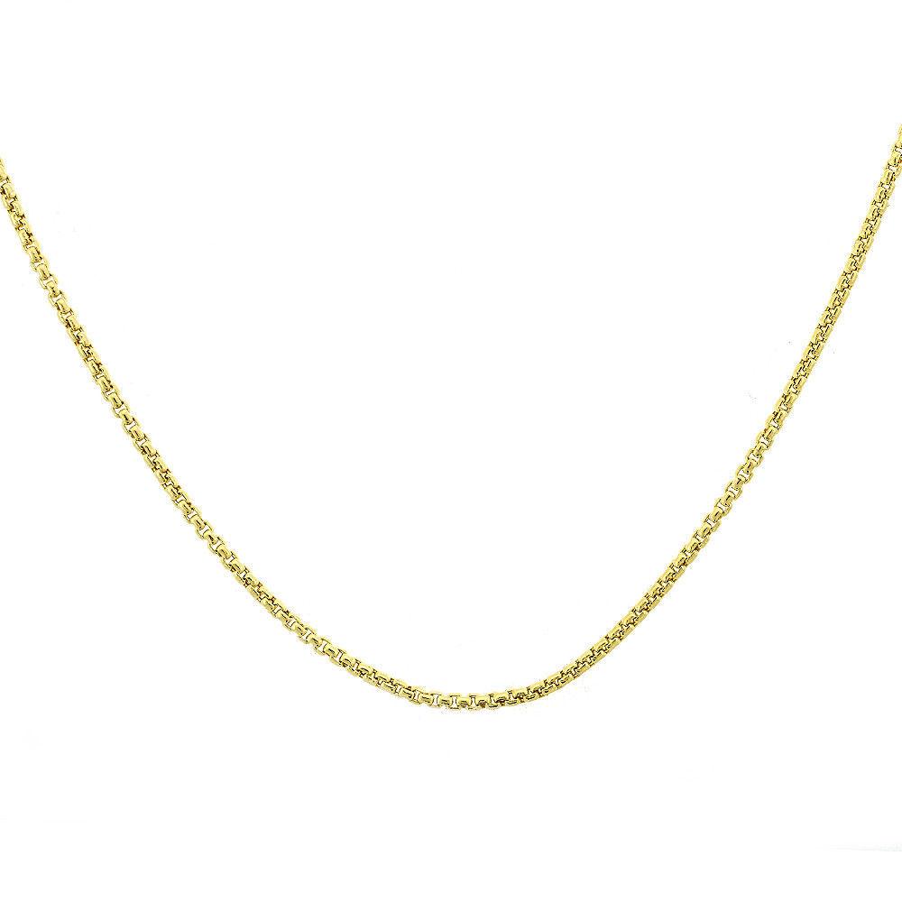 "14K Yellow Gold Box Link Chain 20"" 4.1g 1mm - $226.71"