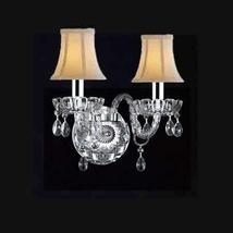 Made with Swarovski Crystal Wall Sconce! Murano Venetian Style Crystal W... - $105.83