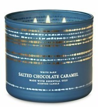 Bath & Body Works Salted Chocolate Caramel 3 Wick Scented Candle 14.5 oz - $25.23