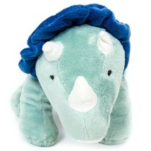 "Carters Dinosaur Triceratops Plush 10"" Blue Green 2015 Spots Stuffed Ani... - $19.66"
