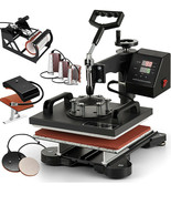 VEVOR 15 X 12 inch 8-in-1 Digital Multifunctional Heat Press Machine - $142.50