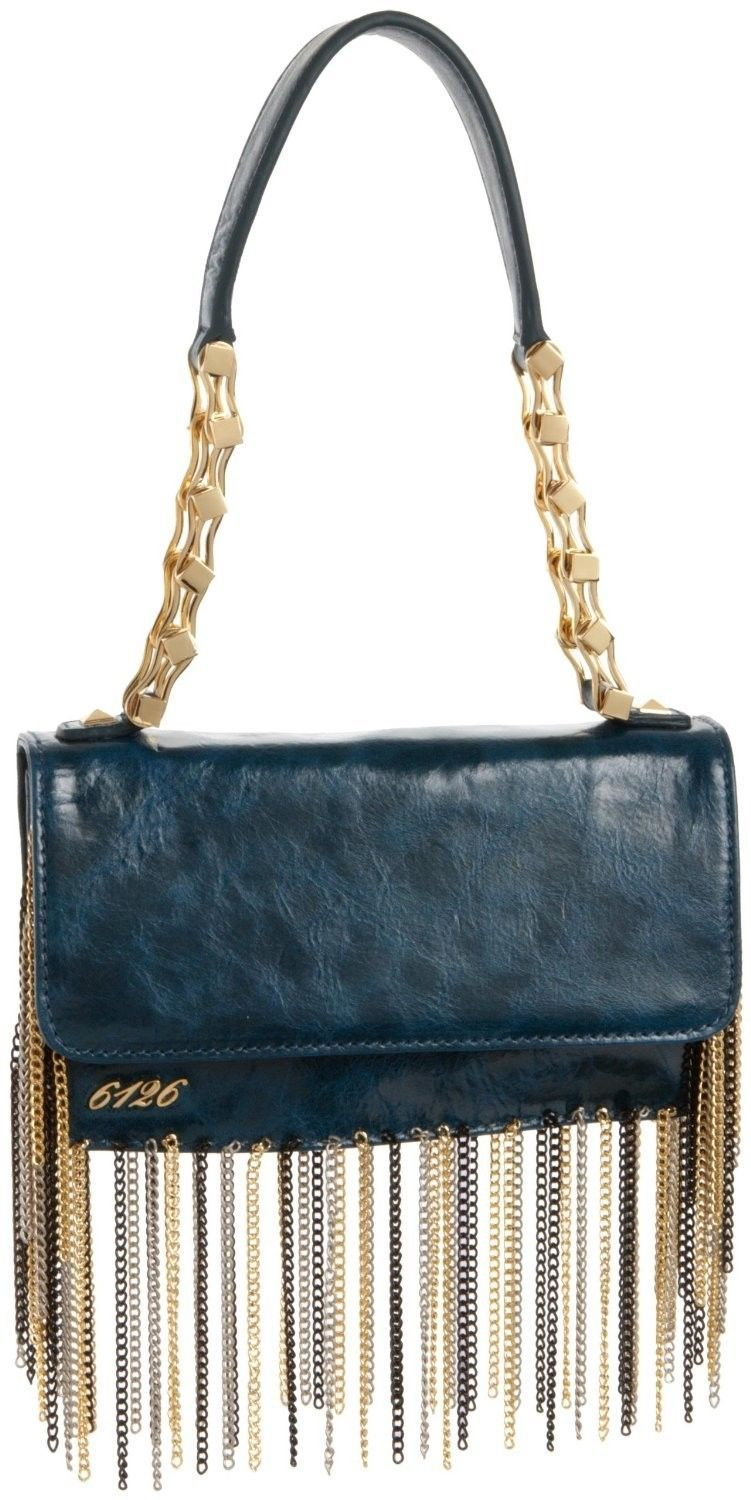 NEW 6126 BY LINDSAY LOHAN WOMEN'S GOLDIE CHAIN SHOULDER BAG PURSE HANDBAG BLUE