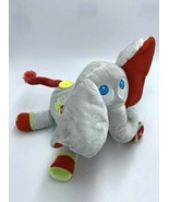 Hamleys Big Jolly Elephant Plush Gray Red Green Yellow Button Stuffed An... - $29.99
