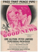 Pass That Peace Pipe ~ June Allyson ~ Peter Lawford ~ Sheet Music ~ 1947... - $10.84