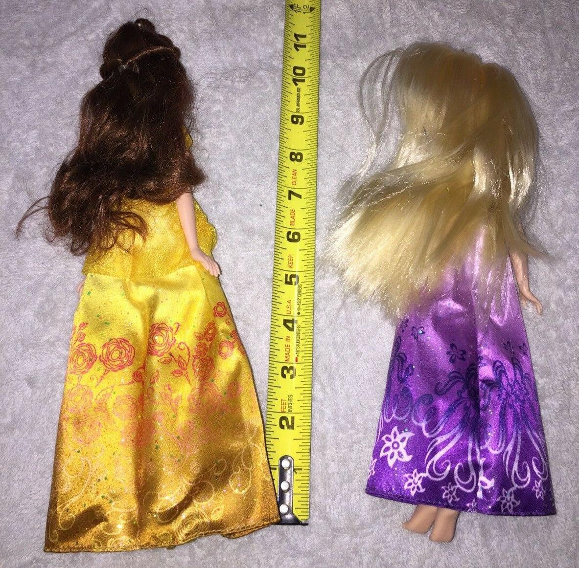 2 Disney Princess Shimmering Dreams Collection Dolls Rapunzel & Belle Used Good