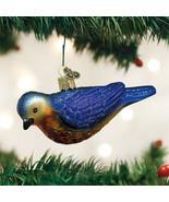 Western Bluebird Glass Ornament - $18.95