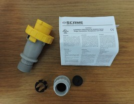 Scame SCM320P4W Pin and Sleeve IEC Plug - 2 Pole, 3 Wire, 20 Amp, 125 Volts - $125.00