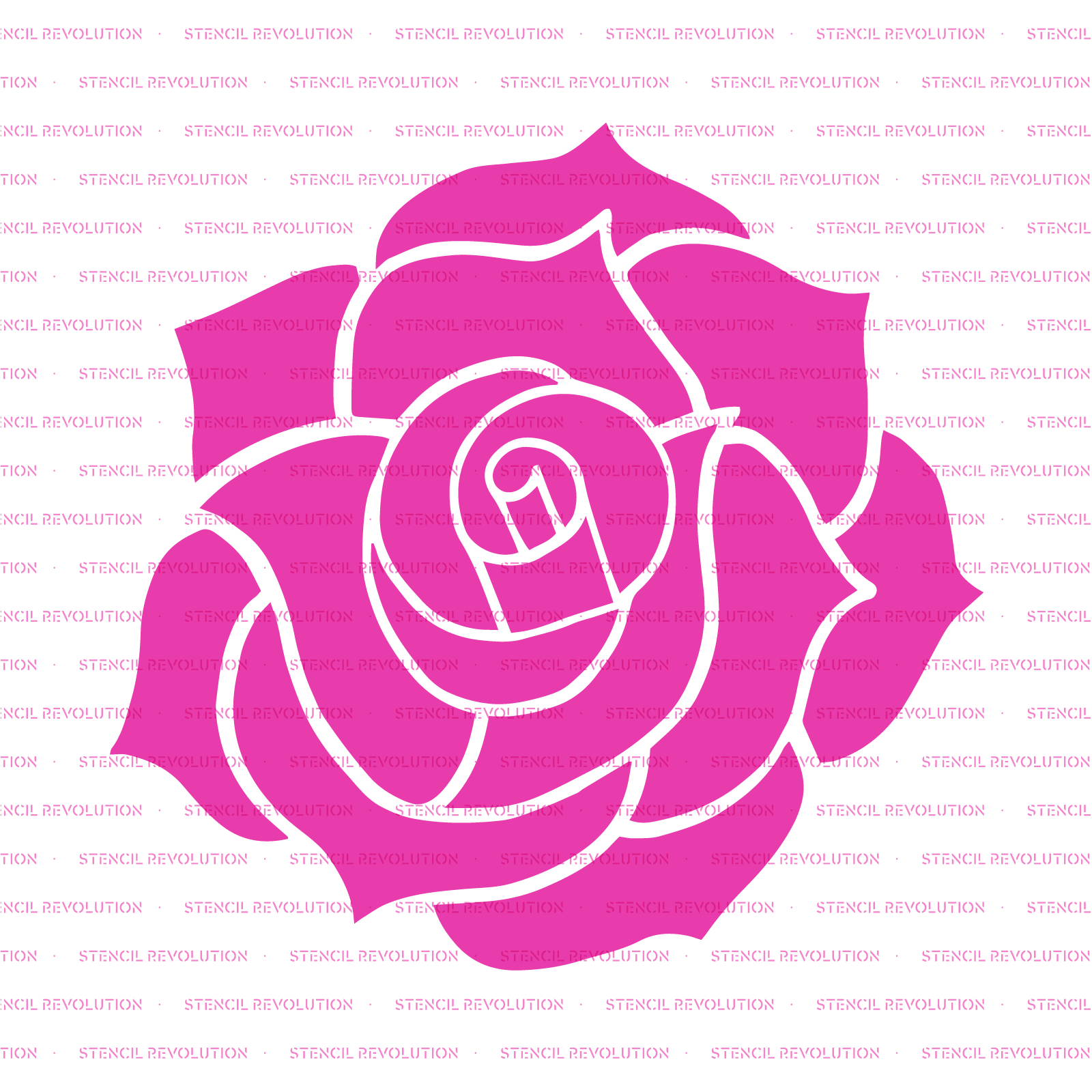 Rose Stencil - Reusable Stencils of Rose in Multiple Sizes