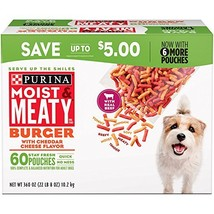 Purina Moist & Meaty Burger With Cheddar Cheese Flavor Adult Dry Dog Foo... - $74.50