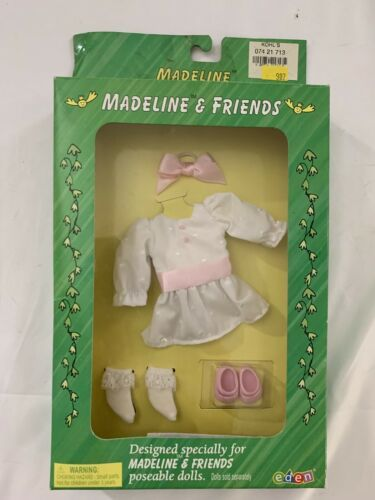 RARE NEW Madeline & Friends Clothing 1999 by EDEN - Tea Party Outfit Unopened - $28.49