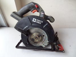 Porter Cable Cordless Circular Saw 18 Volt Used Work Well PC186CS - $39.99