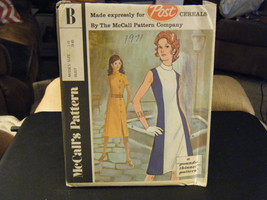 """McCall's """"B"""" Post Cereals Misses Dress in 2 Versions Pattern - Size 14 B... - $10.40"""