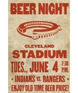 CLEVELAND INDIANS TEXAS RANGERS 8X10 PHOTO BASEBALL PICTURE STADIUM BEER... - $3.95