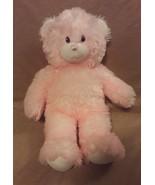 "BUILD A BEAR Pink Frosted white shaggy fur TEDDY BEAR 15"" plush stuffed ... - $10.57"