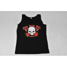 Womens Gildan Red Iron Motorcycle Club Support (Arizona) Tank Top 2XL Bl... - $14.69