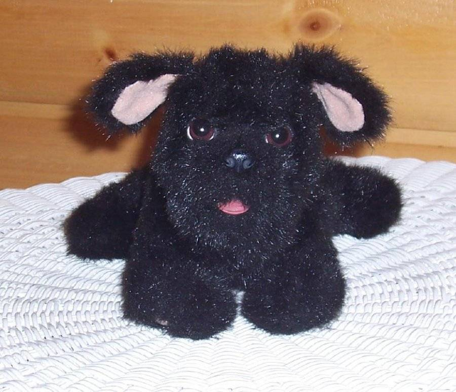 "Primary image for FurReal Friends Plush 9"" Sound & Action All Black Puppy Dog w/ Tiny Pink Tongue"