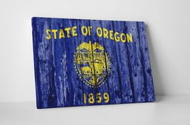 Vintage Oregon State Flag Gallery Wrapped Canvas Wall Art - $44.50+