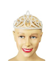 Christmas/Princess/Queen Fancy Dress, Tiara, White Glitter + Diamond - $3.77