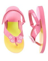 "NWT GYMBOREE GIRLS ""Swim Shop"" PINK BUTTERFLY FLIP FLOP SANDALS SIZE: 5-6 - $9.49"