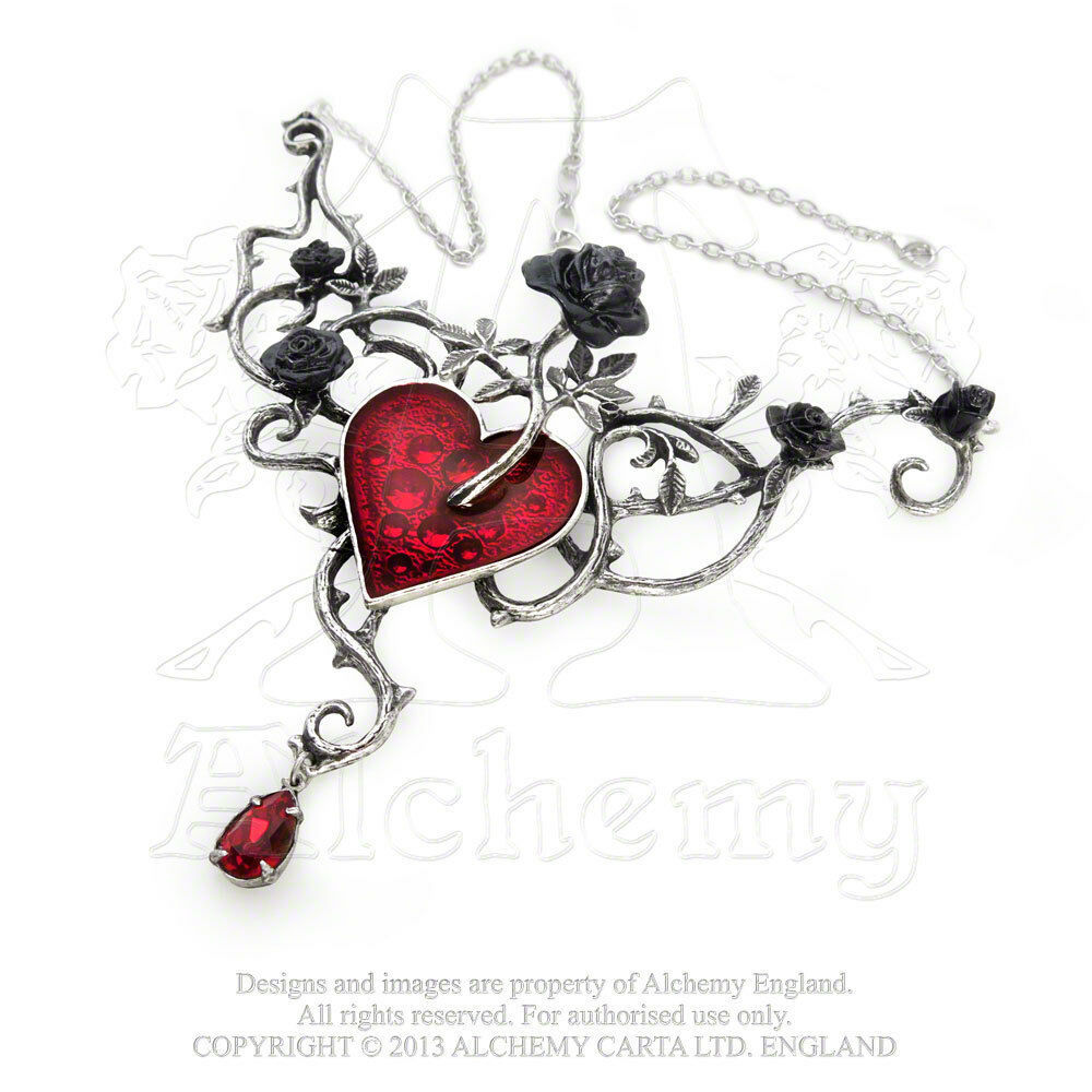 Bed Of Blood-Roses Necklace by Alchemy Gothic