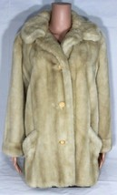Dubrowsky Joseph exclusively women coat styled beige faux fur France siz... - $78.25