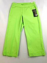 new SLIM-SATION Golf women pants capri tummy control light green 2 MSRP $69 - $33.99