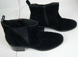 Women's Clarks Nevella Bell Bootie Black Suede size 9.5 M - $59.99