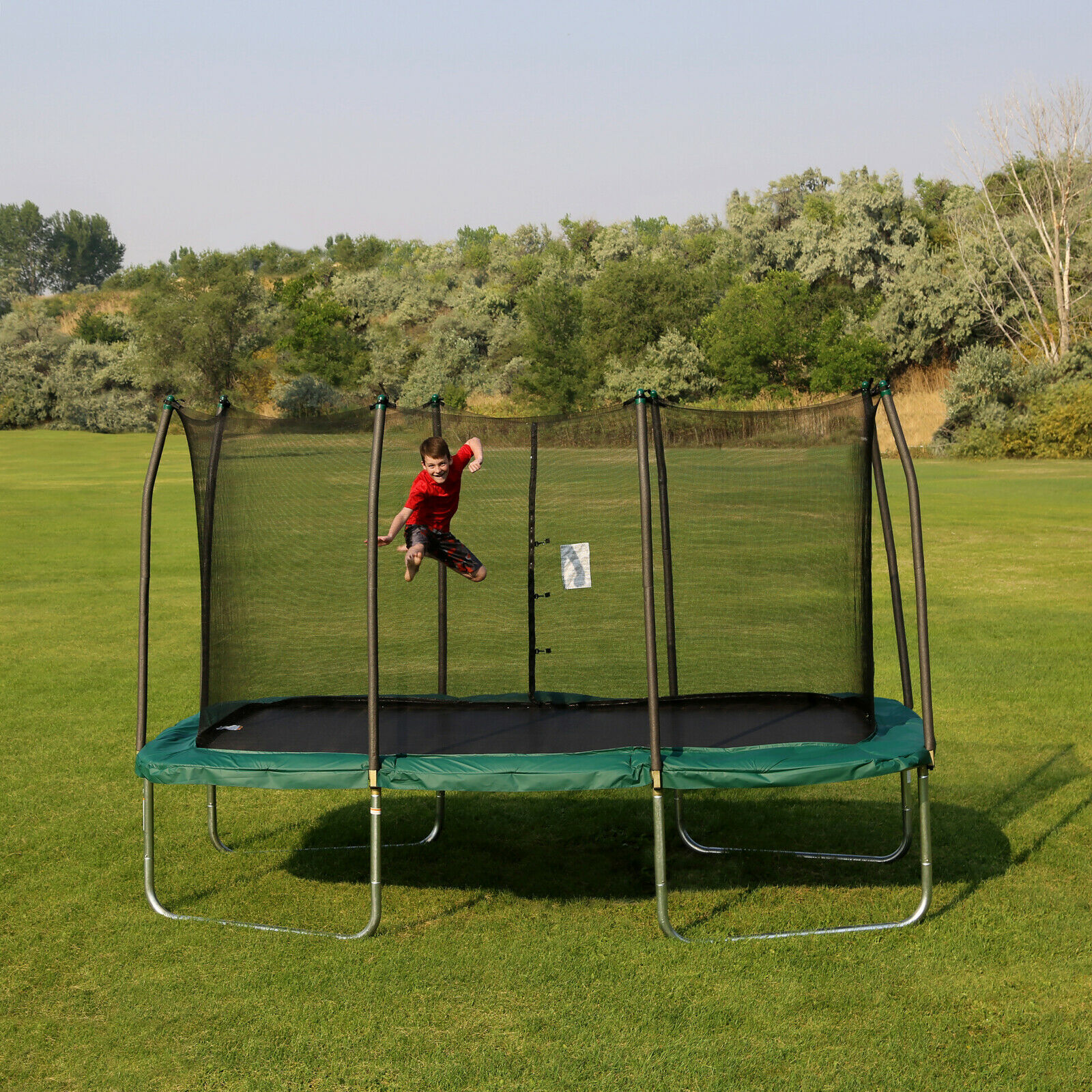 Trampoline Parts Center Coupon Code: Outdoor Trampoline Bouncer With Safety Net Rectangle 14 Ft