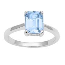 London-Blue Topaz 925 Sterling Silver Ring Shine Jewelry Size-7.5 SHRI1496 - £8.65 GBP
