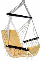 OMNI Patio Swing Seat Hanging Hammock Cotton Rope Chair With Cushion Sea... - $32.94