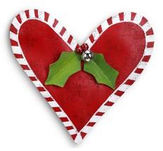Red Christmas Heart Door Decoration Peri Woltjer Screenings - $51.00
