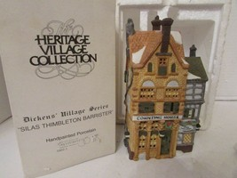 DEPT 56 59021 SILAS THIMBLETON BARRISTER HERITAGE VILLAGE BUILDING NO CO... - $18.61