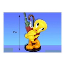 Extremely Rare! Looney Tunes Lifesize Tweety Umbrella Stand Figurine Statue - $626.41