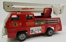 "N) Vintage Tonka Burntwood Fire Dept. Snorkel Unit 3 Metal Toy Fire Truck 18"" - $39.59"