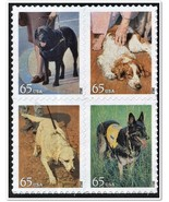 2012 65c Dogs at Work, Military, Therapy, Block of 4 Scott 4604-4607 Min... - $6.48