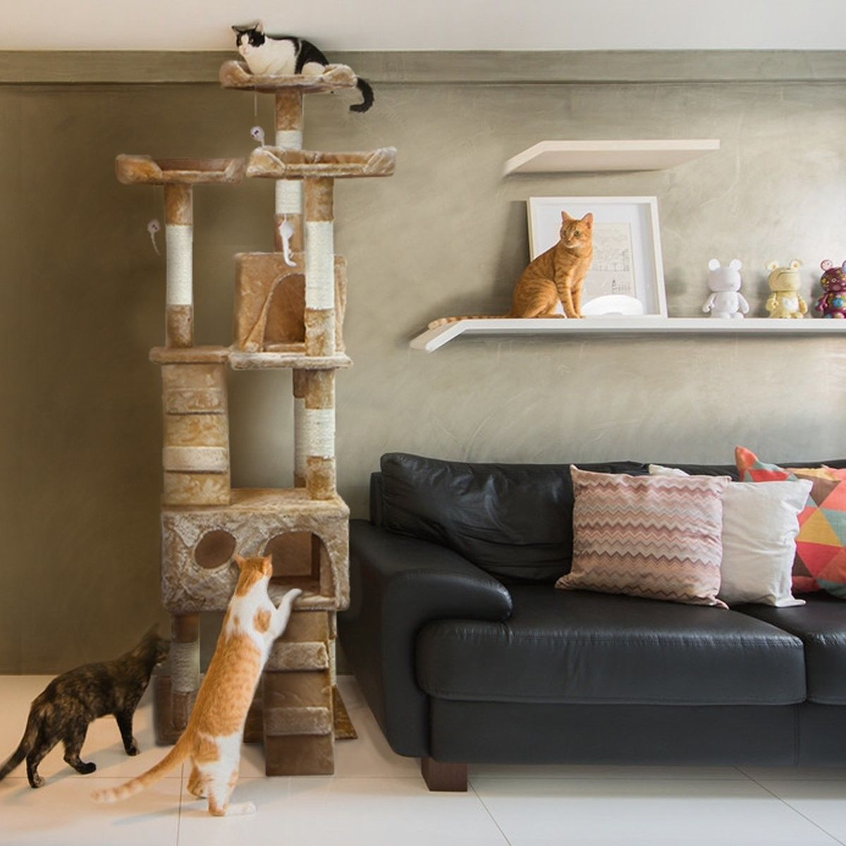 Cat Condo For Indoor Tower Multi And 50 Similar Items S L1600