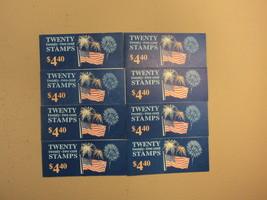 USPS Scott 2276a 22c 1987 Flag Over Fireworks 8 Books Of 20 160 Stamps 8... - $81.76