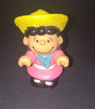 Fisher-Price Little People Lucy Charlie Brown Figure True Vintage 1966 2... - $1.00