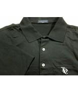 Nuovo Peter Millar Solido Nero Cotone Golf Polo M Tdc Logo - $44.99